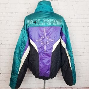 Vintage|Polaris Indy Snowmobile Racing Winter Coat
